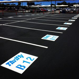 Allocated Parking Line markings