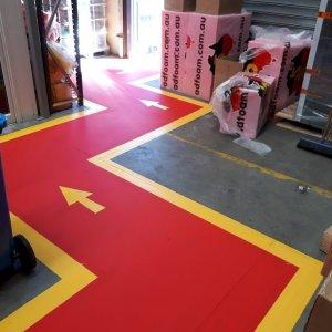 Arrow Traffic Flow Floor Painting
