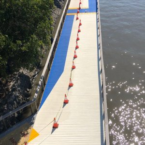 Bridge painting and line marking
