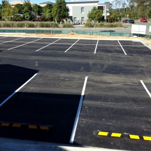Car Park Line Marking with Bumps