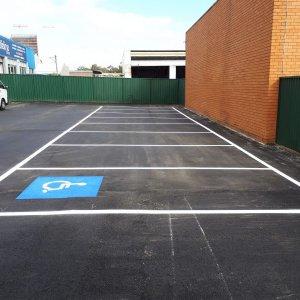 Car Parking Lines with elderly parking logo