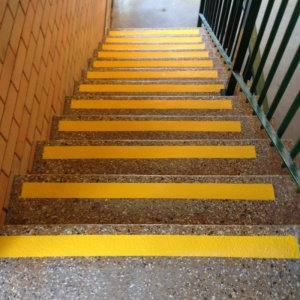 Caution Strips for Stairs - Safety Line Markings