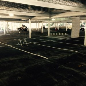 Covered Parking Bays - Car Park Line Marking