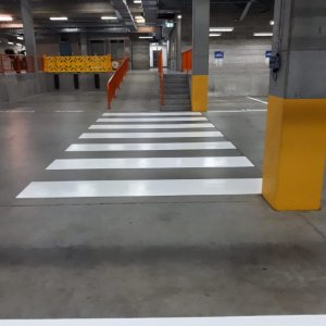 Crossing Line Marks - Basement Parking