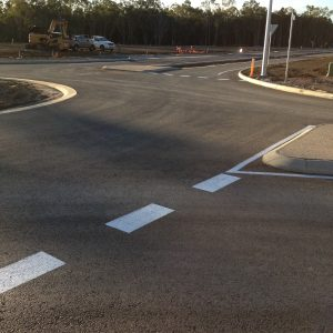 Crossing with caution lines - Car Park Line Markings