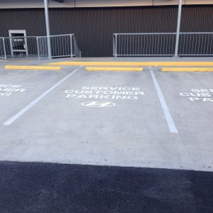 Customised reserve parking line markings