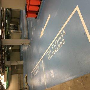 delegated parking space line markings