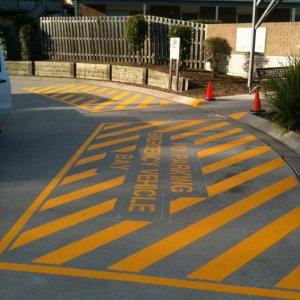 Emergency Vehicle Bay Road Markings