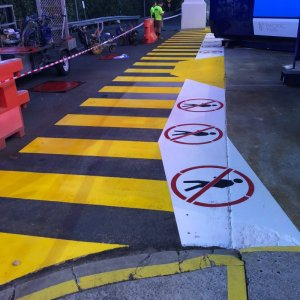 Exclusion zones and safety lines