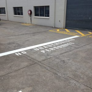 Exclusion zones - Safety Line Marking