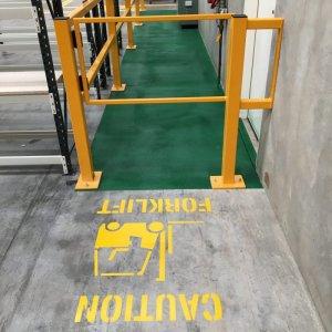 Forklift and pallet lanes