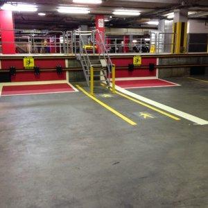 Forklift and pallet lanes Industrial Line Marking