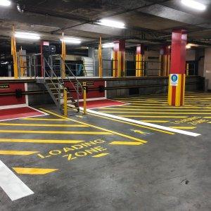 loading zone line markings