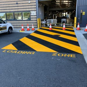 Marking lines for loading zone