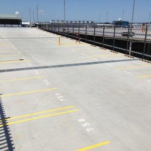outdoor car parking line markings