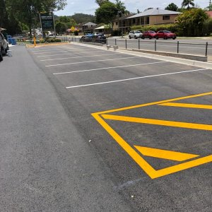 Parking area road marking lines