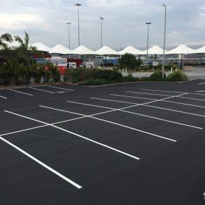 Parking bays line marking NSW