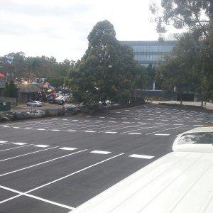 Partitioned Parking Spaces - Car Park Line Marking