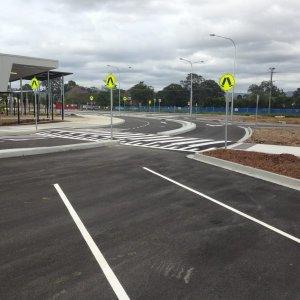 Pedestrian crossing markings