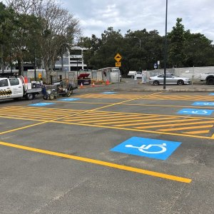 PWD Car Parking lines