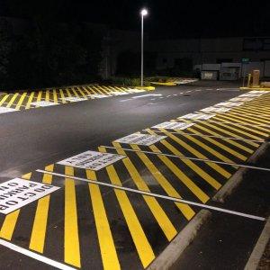 reserved parking slot line marking