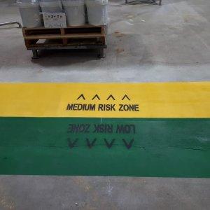 Risk Zones - Safety Line Marking
