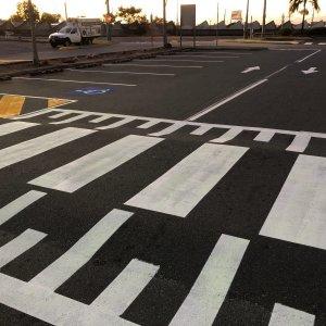Road line markings- crossing