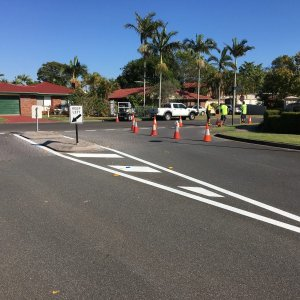 Road marking separation lines