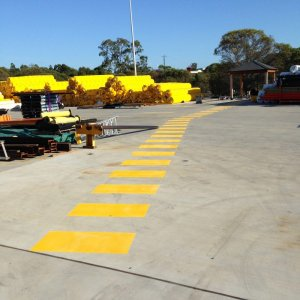 Safety Line walkway line markings for pedestrian