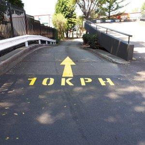Speed Limit Road Line Marking