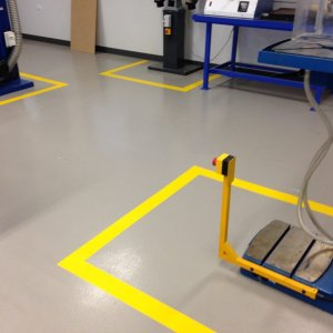 Strapping areas - Industrial line marking
