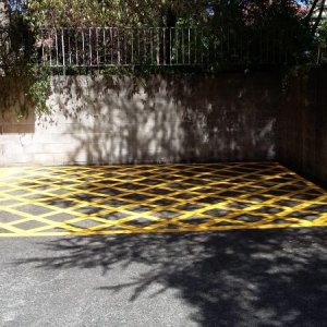 Striped Yellow Car Parking Line guides