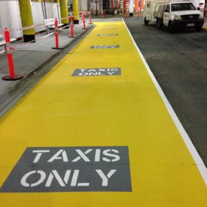 Taxi Lane Road Line Marking