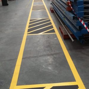 Warehouse separation line markings