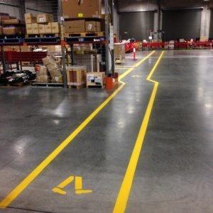 Warehouse walkway Line Marking