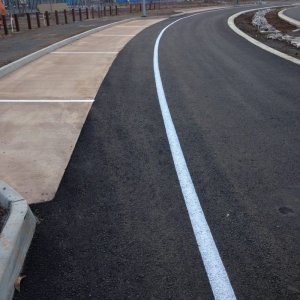 White separation line- Road Line Markings
